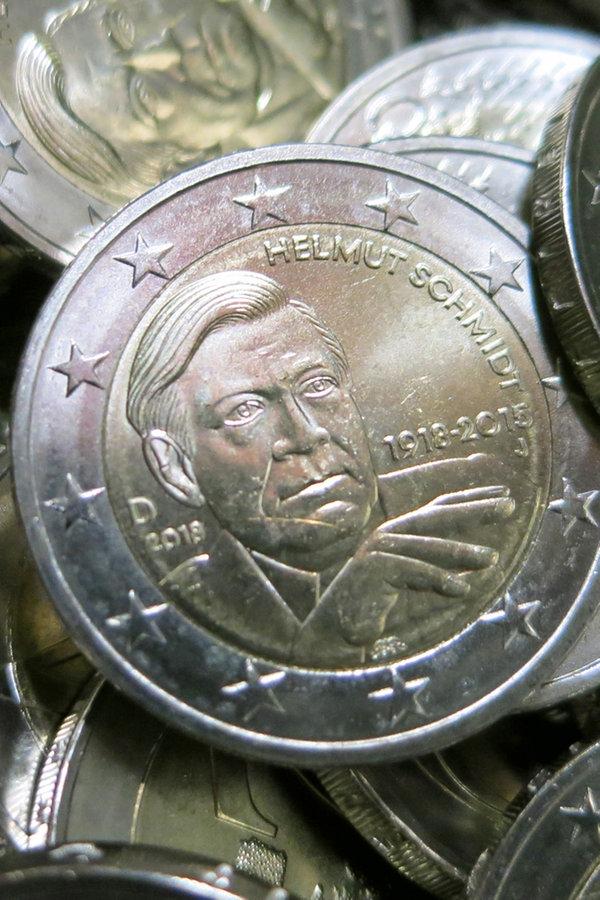 Zwei Euro Stück Helmut Schmidt Fürs Portemonnaie Ndrde