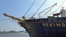 An Bord der Viermastbark Peking. © NDR Foto: Dietrich Lehmann