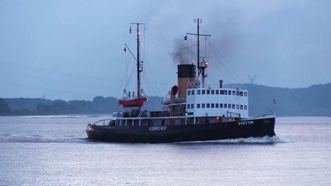 Dampfeisbrecher Stettin Wieder In Hamburg