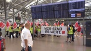 Verdi-Streik am Airport Hamburg. © Tele News Network Foto: Screenshot