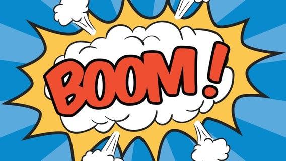"Comic Wolke mit dem Schriftzug ""Boom!"". © fotolia Foto: bonezboyz"