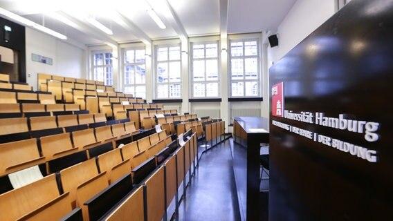 Collegezaal aan de Universiteit van Hamburg © picture alliance Foto: Ulrich Perrey