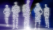 Virtuelle Menschen aus Zahlen abgebildet. © Benjamin Haas, Fotolia Foto: Benjamin Haas