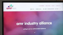 Die Internetseite der AMR Industry Alliance.