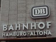 Lettering from the Altona train station in Hamburg.