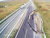 Autobahn Eingebrochen