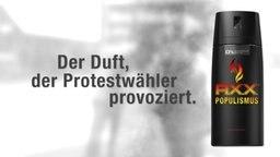 """Werbung für das Deodorant """"Axx Populismus"""""""