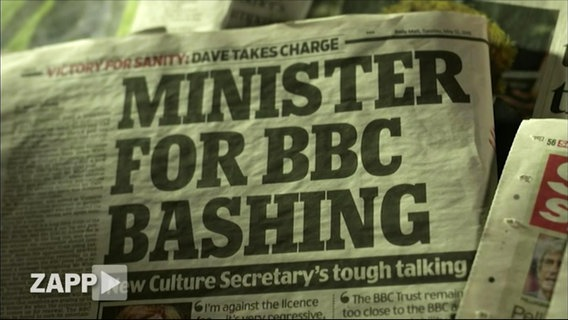 "Zeitungsartikel ""Minister for BBC Bashing""."