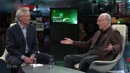 F. Beckenbauer bei einem Interview
