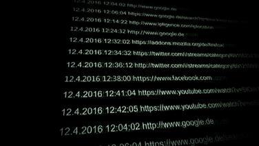 IP-Adressen auf einem Computer-Monitor