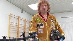 Dickie Schubert ist Rekord-Einhand-Radfahrer