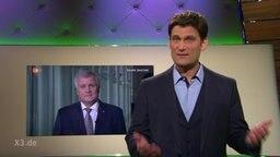 Christian Ehring, im Hintergrund Horst Seehofer.