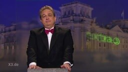 Oliver Kalkofe bei Extra 3 und seiner zweiten Nominierung für den deutschen Satirepreis 2016.