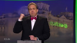 Oliver Kalkofe bei Extra 3 und seiner ersten Nominierung für den deutschen Satirepreis 2016.