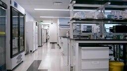 Ein leeres Labor der Firma Achaogen.