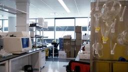Ein leeres Labor.
