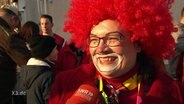 Andrea Nahles als Clown.