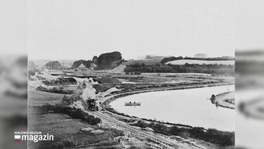 Ein ein Foto in Schwarz-Weiß vom Nord-Ostsee-Kanal.