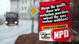 Ein satirisches NPD-Plakat