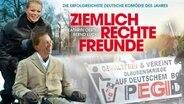 Kathrin Oertel und Bernd Lucke auf einem Filmplakat.