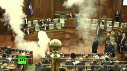Qualm in einem Parlament