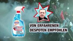 Eine Werbeanzeige für einen Reiniger