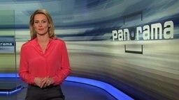 Anja Reschke im Panorama-Studio.