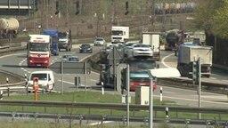 Eine Autobahn im Ruhrgebiet.