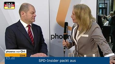 Interview mit Olaf Scholz.