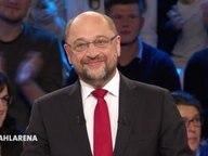 SPD-Kanzlerkandidat Martin Schulz in der Sendung Wahlarena.