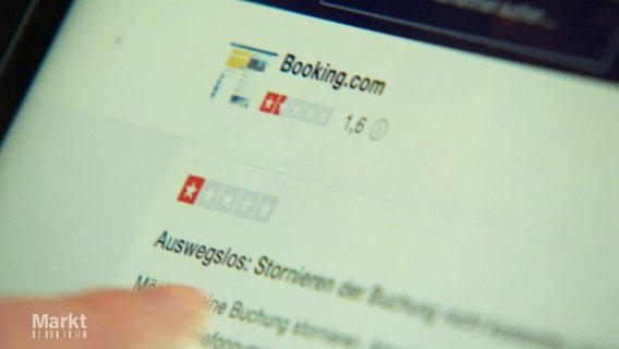 Die Website von booking.com
