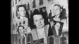 Fotos von vier Männern und einer Frau vor dem Hintergrund einer Hauswand.