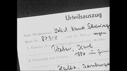 """Dokument mit der Überschrift """"Urteilsauszug"""""""