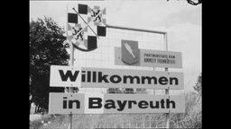 Das Ortseingangsschild von Bayreuth (Archivbild)