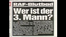 """Ein Zeitungsartikel mit der Überschrift """"Wer ist der 3. Mann?"""""""