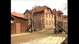 Der Eingang der KZ-Gedenkstätte in Auschwitz.