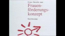"""Konzeptpapier mit der Aufschrift """"Frauen-förderungs-konzept (Archivbild)."""