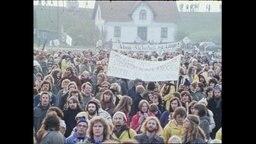 Hunderte Menschen, die gegen Atomkraft demonstrieren (Archivbild).