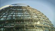 Die Glaskuppel des Bundestages