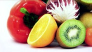 Obst und Gemüse ansehnlich drapiert
