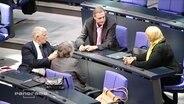 Vier Abgeordnete im Bundestag