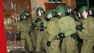 Bereitschaftspolizisten in Uniform
