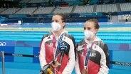 Die Wasserspringerinnen Tina Punzel und Lena Hentschel.