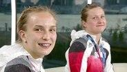 Wasserspringerinnen Lena Hentschel und Tina Punzel.