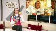 Ricarda Funk zu Gast im ARD-Olympiastudio.