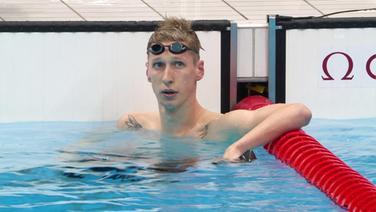 Der deutsche Schwimmer Florian Wellbrock nach seinem Rennen.