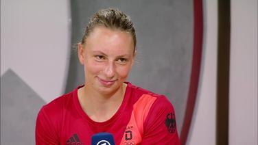 Die Kanutin Andrea Herzog.