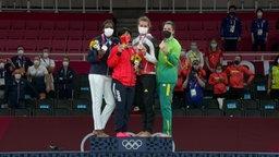 Die Medaillenvergabe im Judo
