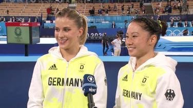Turnerinnen Elisabeth Seitz (li.) und Kim Bui.