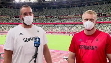 Die beiden Diskuswerfer Prüfer und Jasinski im Interview.